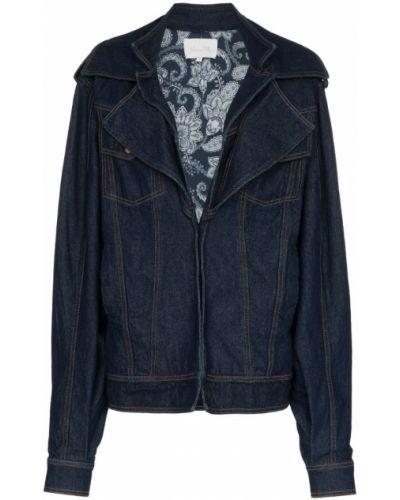 Синяя куртка с манжетами Johanna Ortiz