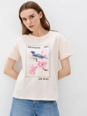 Бежевая футболка с короткими рукавами Fine Joyce