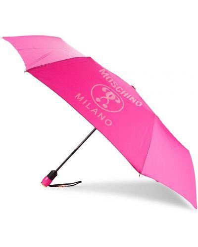 Różowy automatyczny parasol Moschino