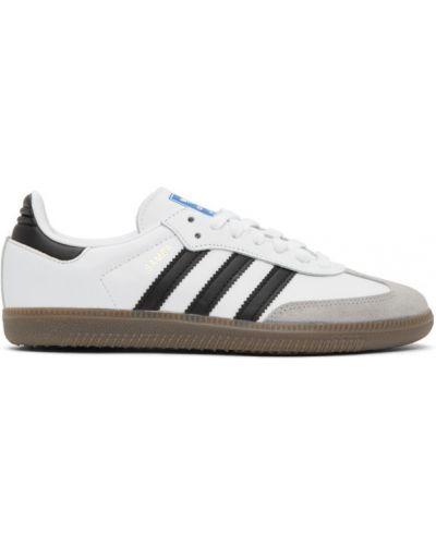 Черные кожаные кроссовки с нашивками на шнуровке на каблуке Adidas Originals
