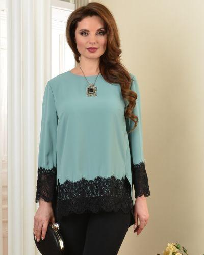 С рукавами кружевная блузка с вырезом Salvi-s