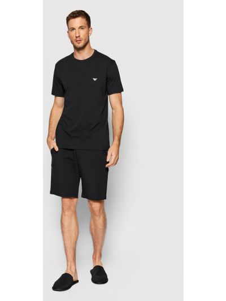 Piżama - czarna Emporio Armani Underwear