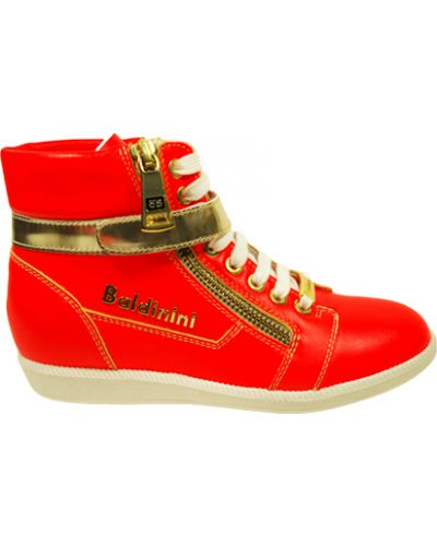 Кеды красные кожаный Baldinini