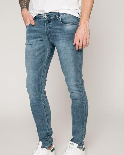 Синие джинсы-скинни Diesel