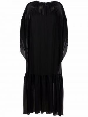 Черное платье макси длинное Karl Lagerfeld