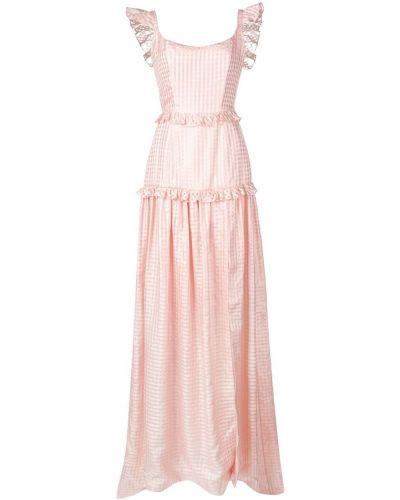 Приталенное розовое платье Markarian