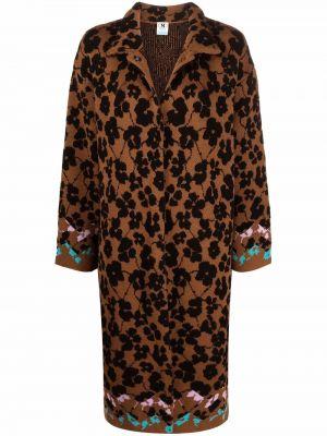 Коричневое длинное пальто M Missoni