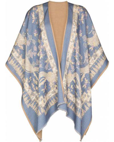 Narzutka wełniana - niebieska Emilio Pucci