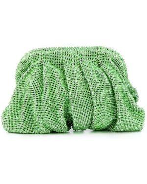 Torba sprzęgło szary zielony Benedetta Bruzziches