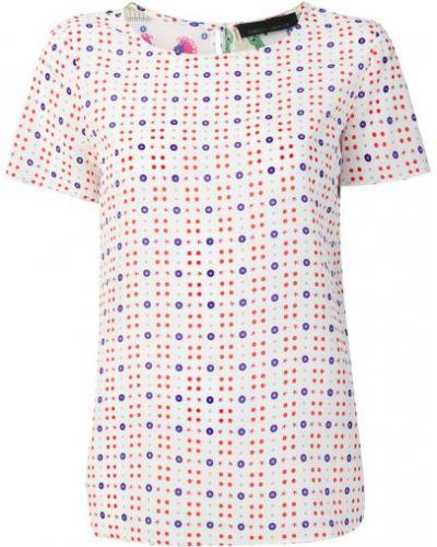 Белая футболка шелковая Frankie Morello