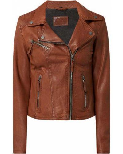 Brązowa kurtka asymetryczna Oakwood