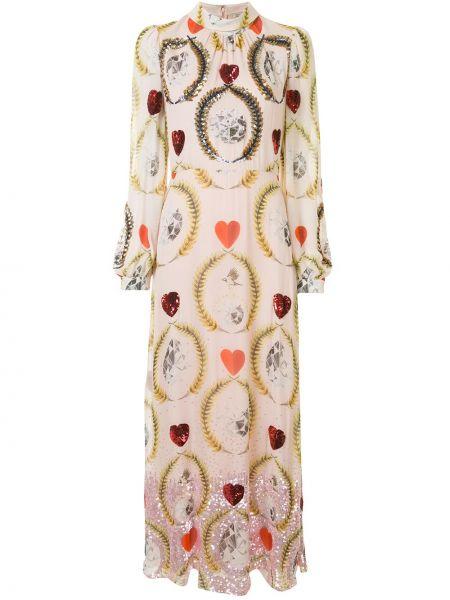 Платье с пайетками на пуговицах Temperley London