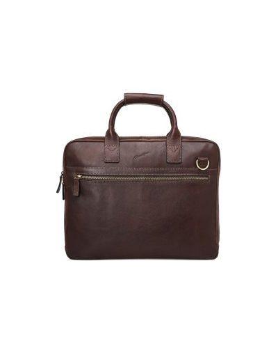 Портфель с отделением для ноутбука кожаный Gerard Henon