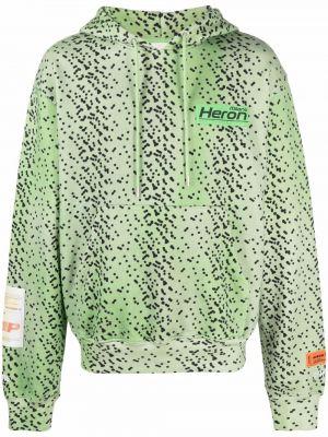 Bluza z nadrukiem z printem - zielona Heron Preston