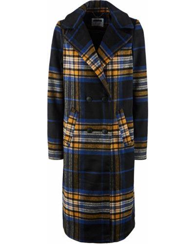 Черное длинное пальто двубортное Noisy May
