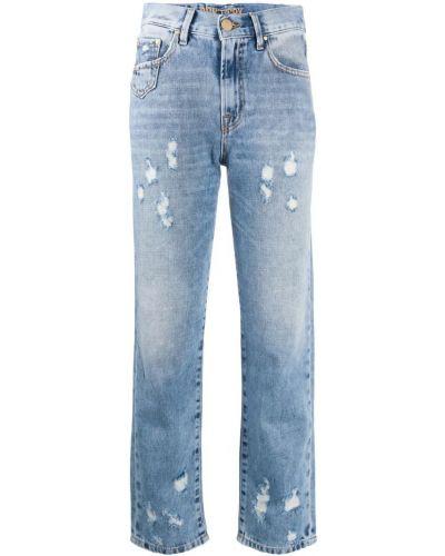 Прямые джинсы укороченные mom Don't Cry