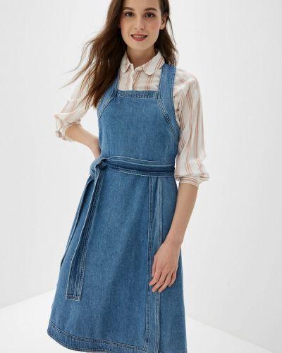 Джинсовое платье платье-сарафан весеннее Selected Femme