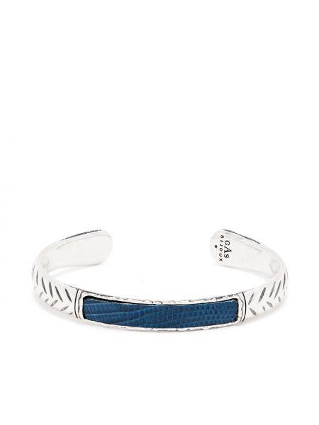 Niebieska bransoletka skórzana Gas Bijoux