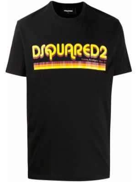 Koszula krótkie z krótkim rękawem z logo prosto Dsquared2