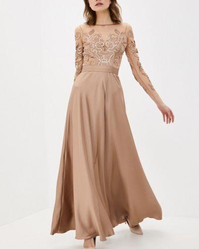Коричневое вечернее платье Seam