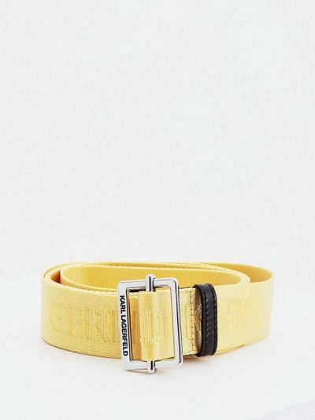 Ремень желтый Karl Lagerfeld
