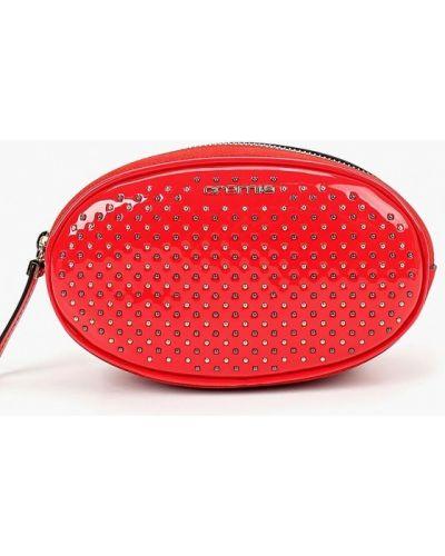 Кожаный сумка лаковая поясная Cromia