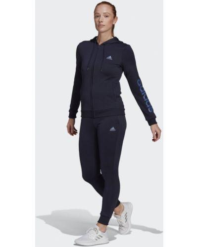Костюмный синий спортивный костюм Adidas