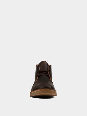 Ботильоны на каблуке - коричневые Clarks