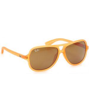Okulary - żółte Ray Ban Junior