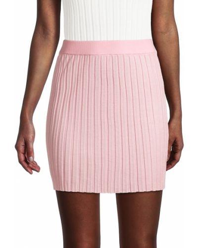 Długa spódnica wełniana - różowa Helmut Lang