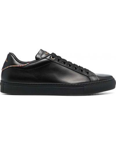 Кожаные черные кеды на шнуровке Paul Smith