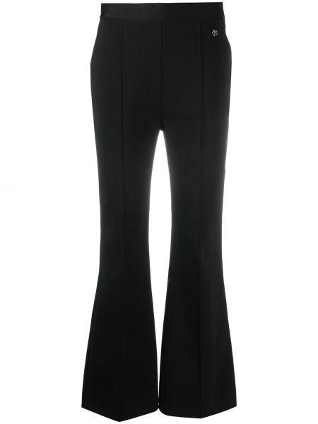 Spodni czarny rozbłysnął spodnie z kieszeniami Givenchy
