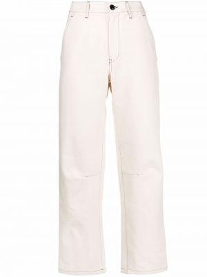 Брюки с карманами - белые Barena