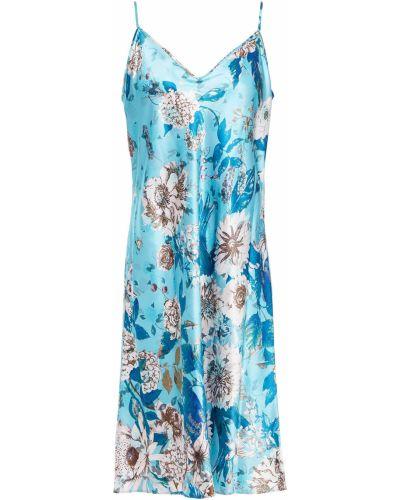 Шелковое платье - бирюзовое Diane Von Furstenberg