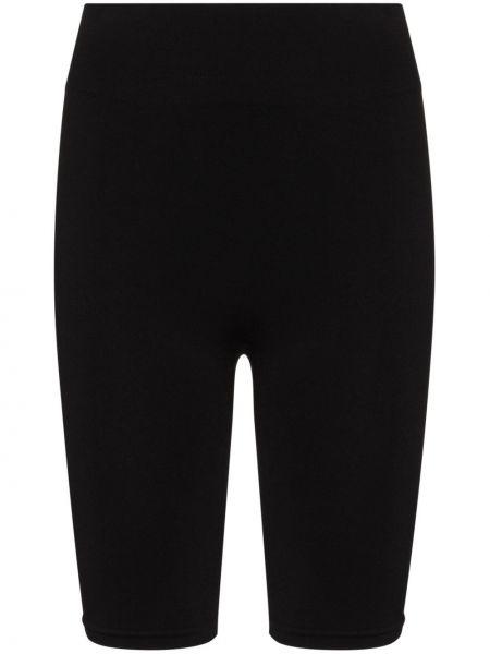 Открытые с завышенной талией черные шорты Prism
