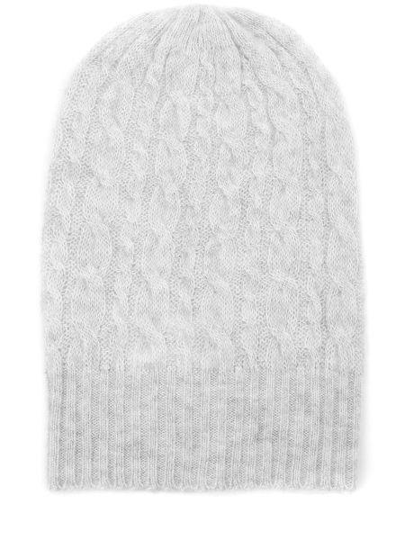 Кашемировая серая шапка эластичная с манжетами Malo