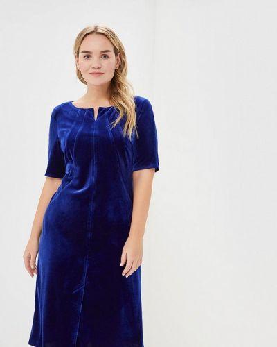 Платье миди осеннее синее Borboleta