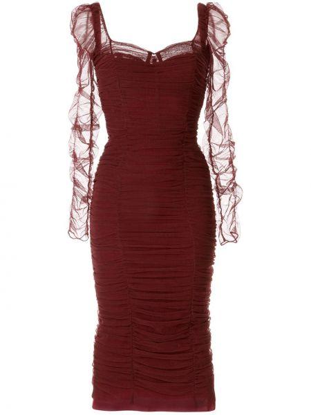 Вечернее платье миди облегающее Dolce & Gabbana