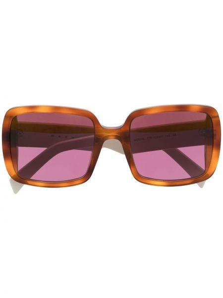 Różowa oprawka do okularów oversize Marni Eyewear
