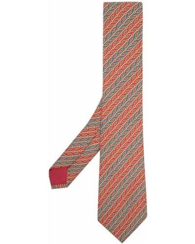 Krawat z jedwabiu - niebieski Hermes