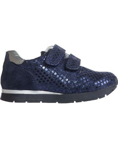 Синие кроссовки замшевые Naturino