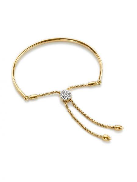 Bransoletka ze złota z diamentem zielony Monica Vinader
