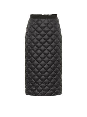 Городская пуховая черная юбка миди Moncler