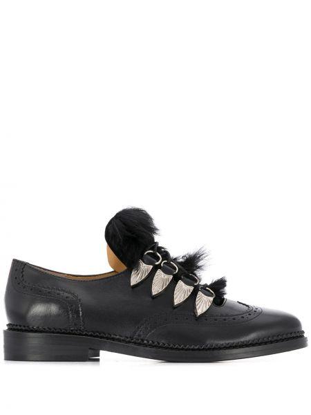 Оксфорды на шнуровке черный Toga Pulla