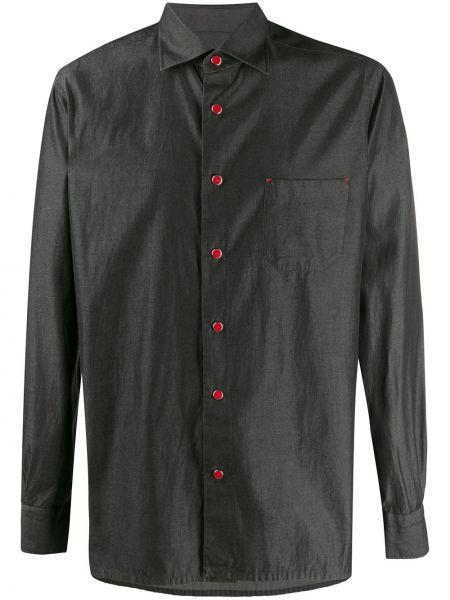 Koszula z długim rękawem z kieszeniami prosto Kiton