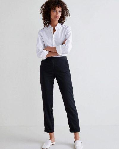 Черные брюки прямые Mango