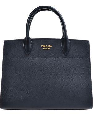 Кожаная сумка - черная Prada