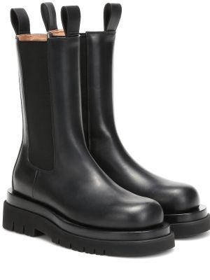 Ботинки челси черные Bottega Veneta