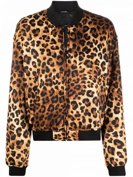 Коричневая куртка с принтом R13