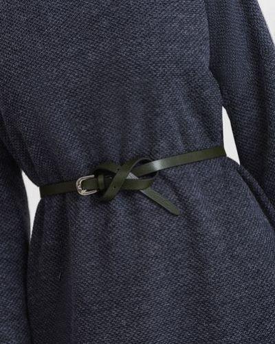 Кожаное зеленое платье Vovk